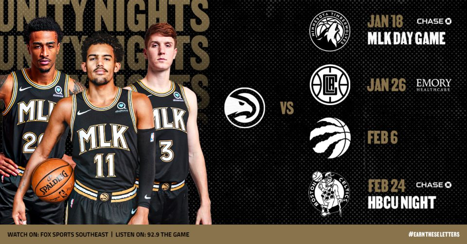 On the Hardwood: Atlanta Hawks Honor Legacy of Martin Luther King Jr. in First of Season-Long 'Unity Nights'