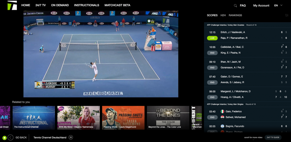 Tennis Channel International Responds to Pandemic With Live Programming